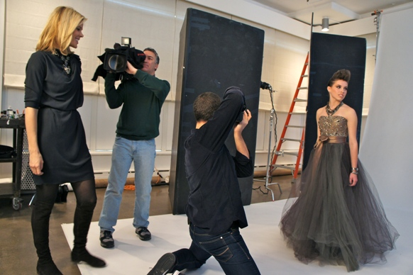 Nigel Barker shooting for Make A Wish Foundation and mary Alice Stephenson styling